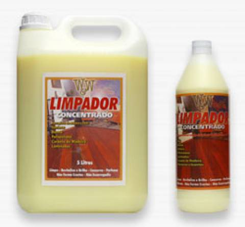 limpador concentrado para uso em pisos de madeira 1 litro w&w