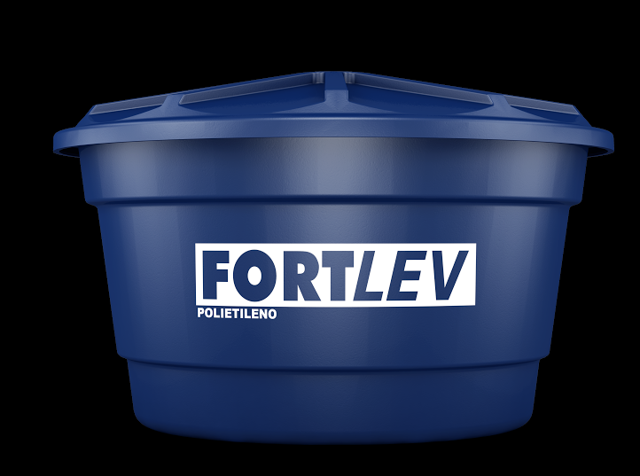 Caixa d'água com tampa 310 litros polietileno Fortlev