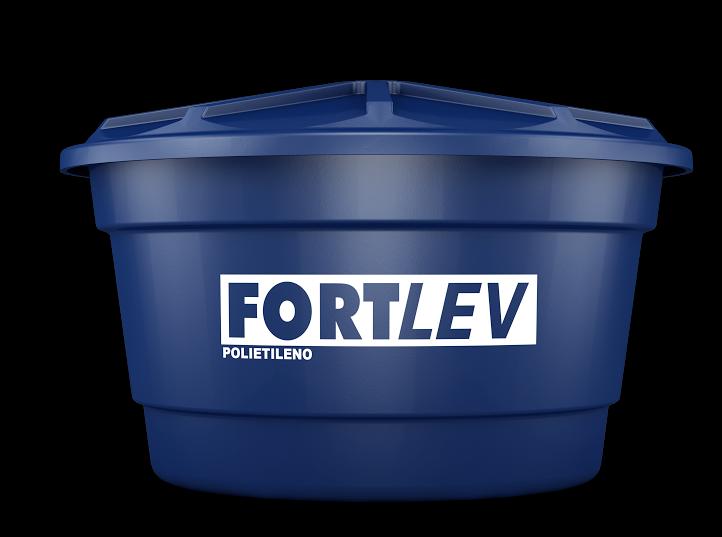 Caixa d'água com tampa 500 litros polietileno Fortlev