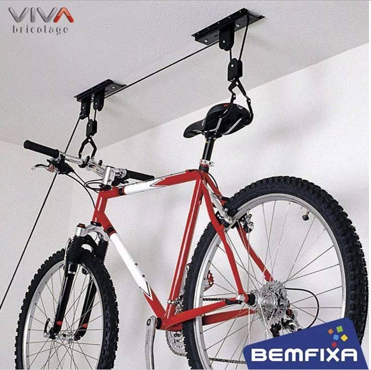 Suporte De Teto Para Bicicleta Com Sistema De Elevação Bike