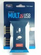 CARREGADOR USB MULT 2X USB + 2 TOMADAS 2P+T BRANCO UNIDADE DANEVA | Santa Rosa Tintas