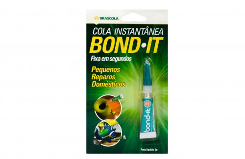 Cola Instantânea Bond it adesivo de cianoacrilato 2g brascola