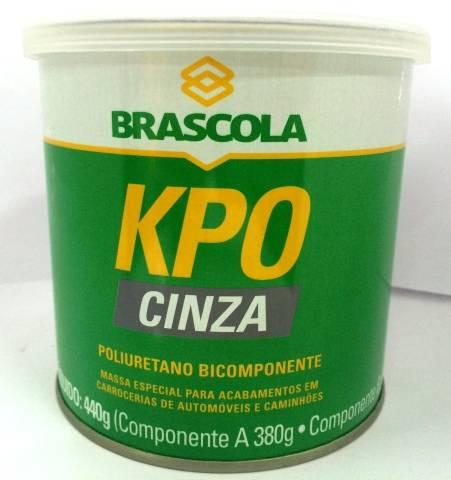 Brascoved Kpo Cinza 1/4 440g poliuretano bicomponente Brascola