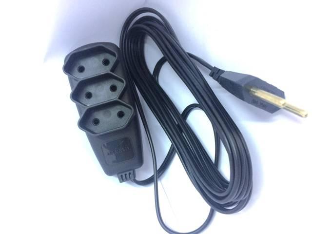 Extensão Elétrica Sort Cordão Paralelo 3 metros 1655 (PL) 2x0,75mm² 2P 10A/250V~ DANEVA