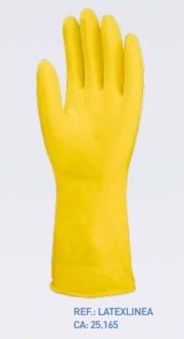 Luva Latex Latexlinea 10' Tamanho (GG) Amarela  CA: 25.165 Luvas Yeling