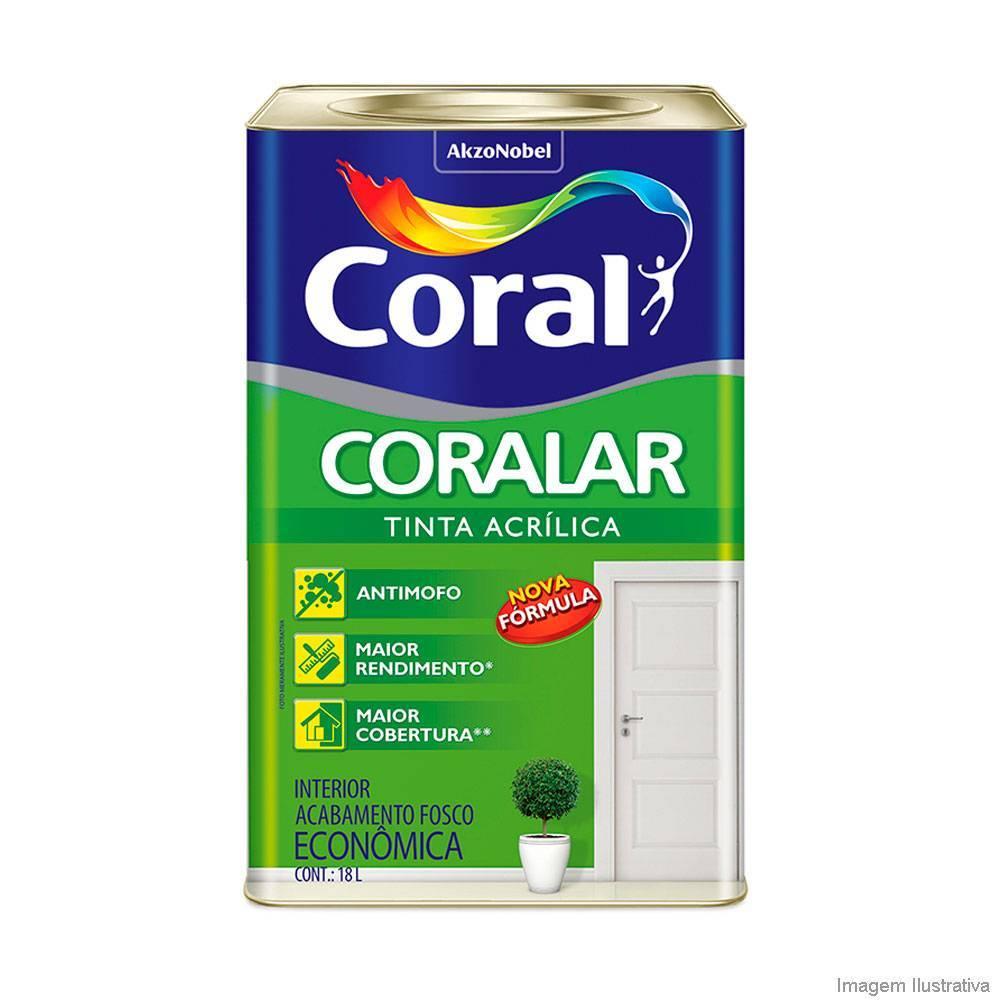 Tinta Látex Acrílico Fosco Branco Econômico 18 litros Coralar