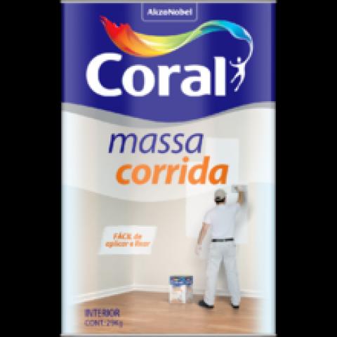 Massa Corrida Pva lata 18 litros C/ 27 kg Coral