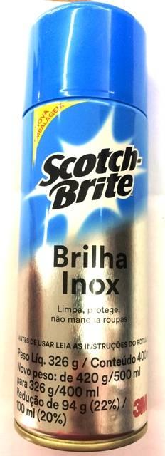 Brilha Inox Scotch-Brite 400ml para limpeza profissional  3m