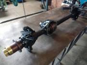 Eixo dianteiro com munhão aberto e kit Cruzetão 38mm 35/35 estrias com bloqueio automático