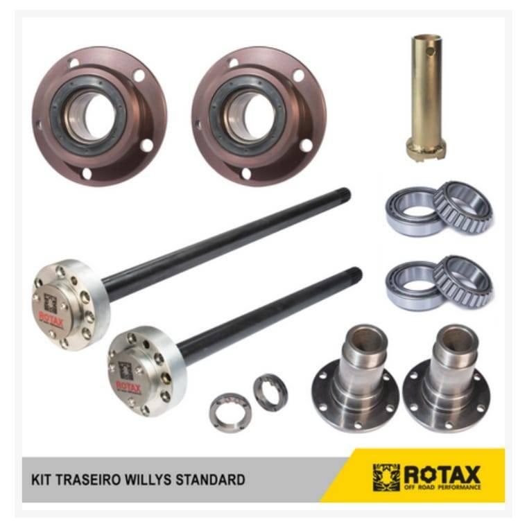 Kit Ponta de Eixo RURAL standart rolamento capa cone (TRASEIRO COMPLETO) 19 ou 30 estrias - D driver equipamentos off road Joinville sc