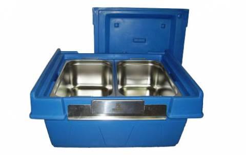 Caixa t�rmica Hot Box 80L Azul, sem as cubas.
