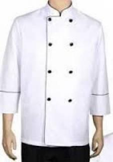 Jaleco Transpassado para Cheff de Cozinha.