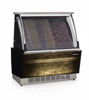 Vitrine Refrigerada Auto Atendimento Prateleira ou Filetado GSRA 1,10. Linha Gourmet Luxo.   Refrimur