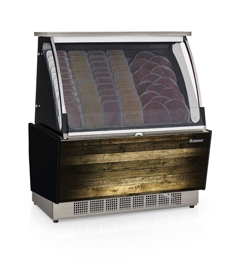Vitrine Refrigerada Auto Atendimento Prateleira ou Filetado GSRA 1,10. Linha Gourmet Luxo.
