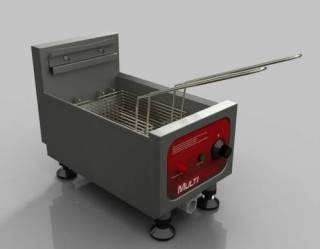 Fritadeira Profissional Elétrica Multifritas, modelo MEC-1 Sistema Zona Fria