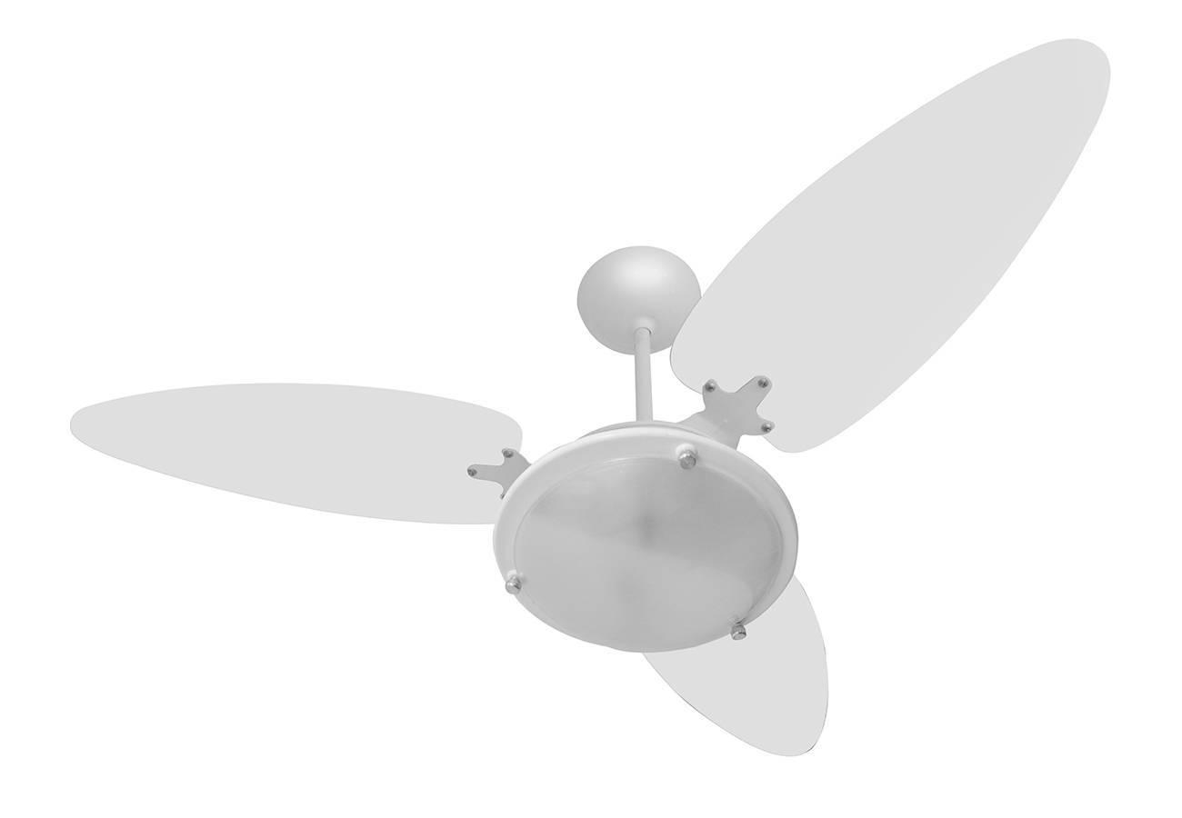 Ventilador de Teto Versatti 1 lâmp. 3 Pás Dupla Flace Branco - LCGELETRO