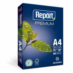 Papel Sulfite A4 Branco Premium 500 Folhas 210x297mm 75g Report