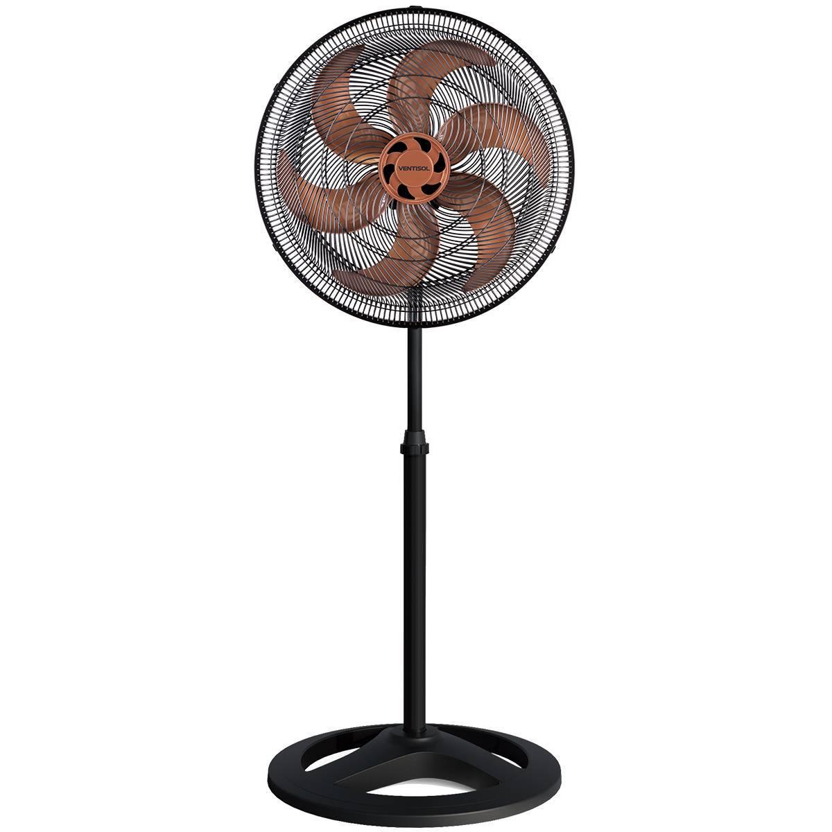 Ventilador De Coluna Turbo 6 50cm Preto/bronze Ventisol  - LCGELETRO