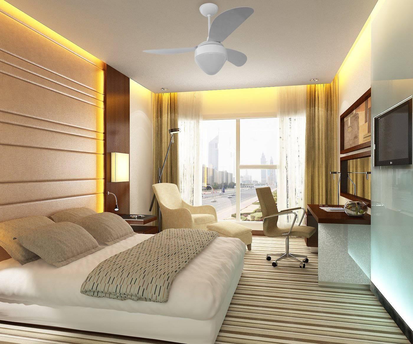 Ventilador De Teto Gale Branco Para 2 Lâmpadas Luxo Ponente - LCGELETRO