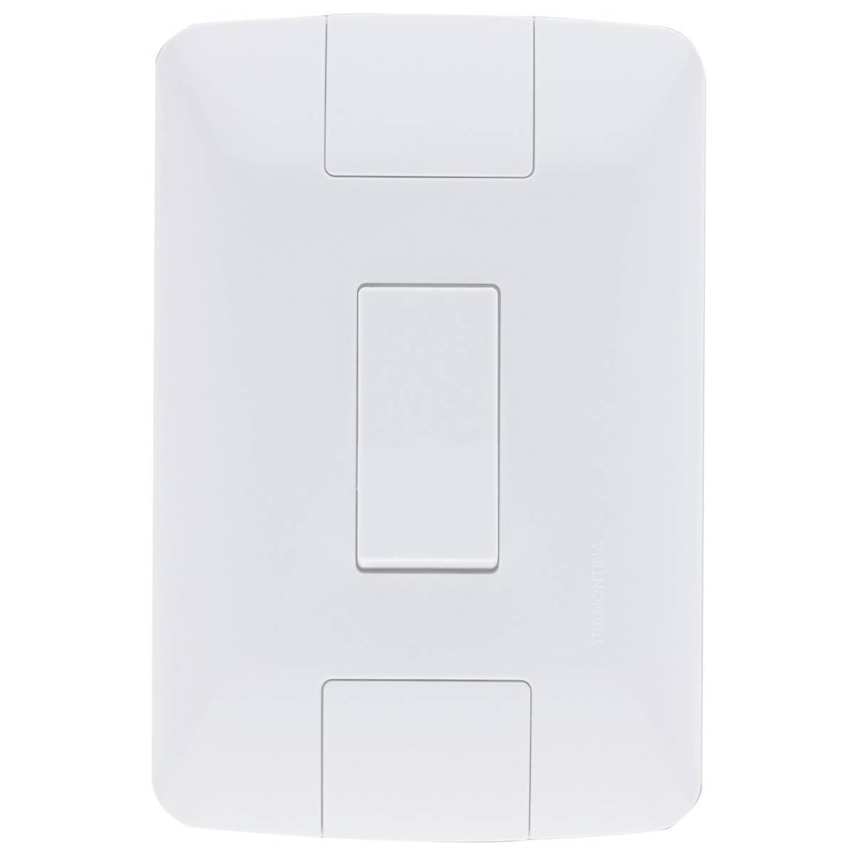 Conjunto Montado Aria 4x2 1 Interruptor Simples 6a Vertical  - LCGELETRO