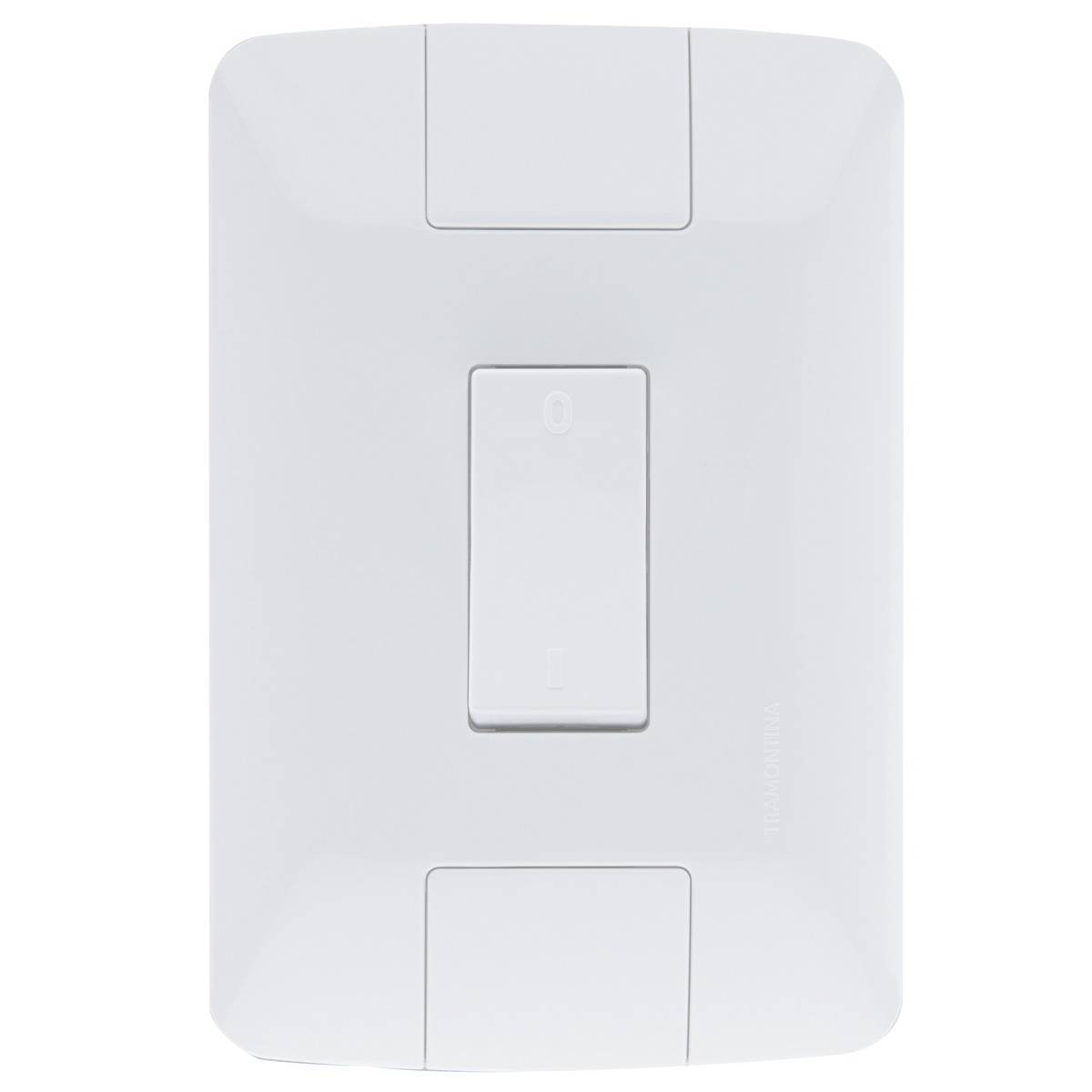 Conjunto Montado Aria 4x2 1 Interruptor Bipolar Simples 10a  - LCGELETRO