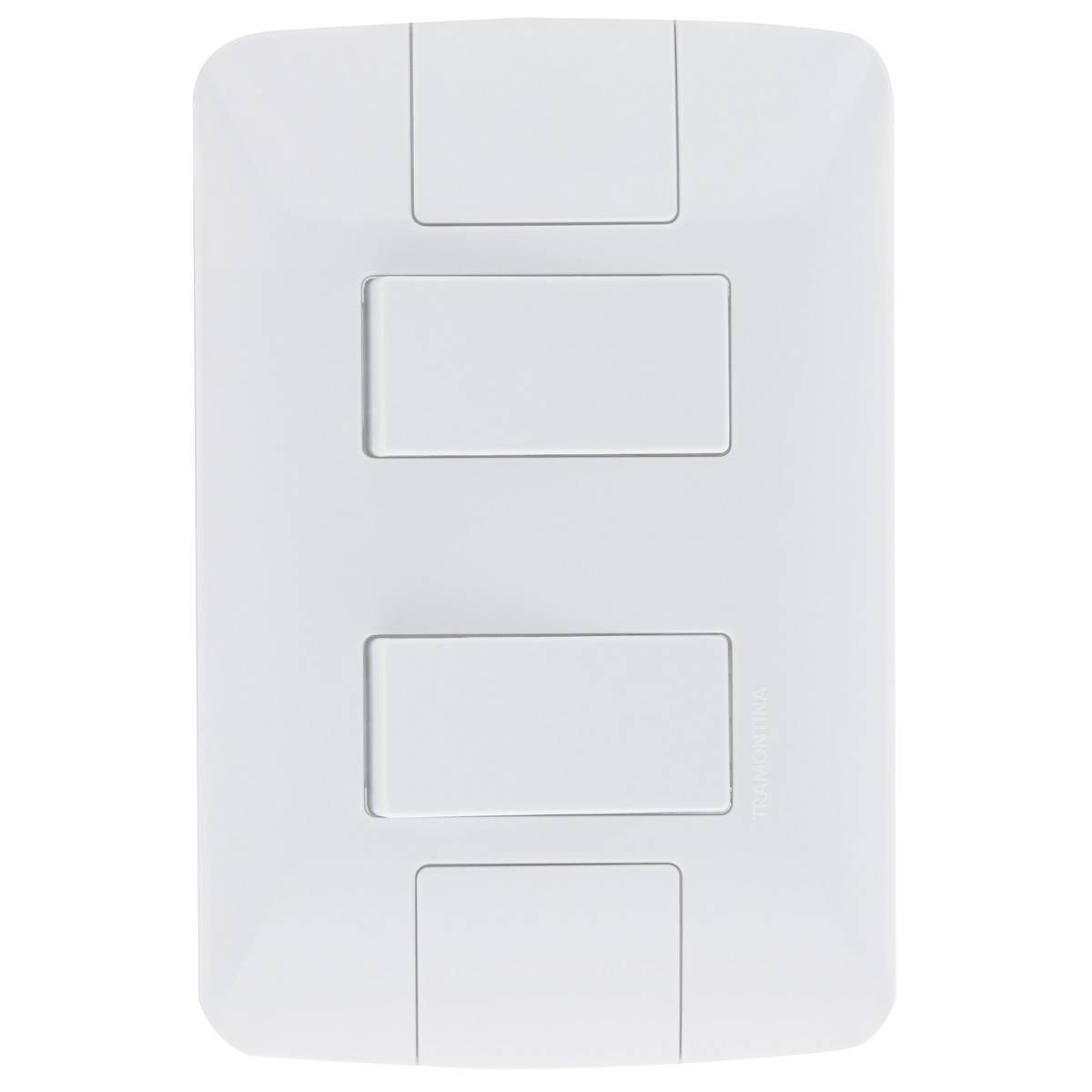 Conjunto Montado Aria 4x2 2 Interruptores Simples 6A 250v Af - LCGELETRO