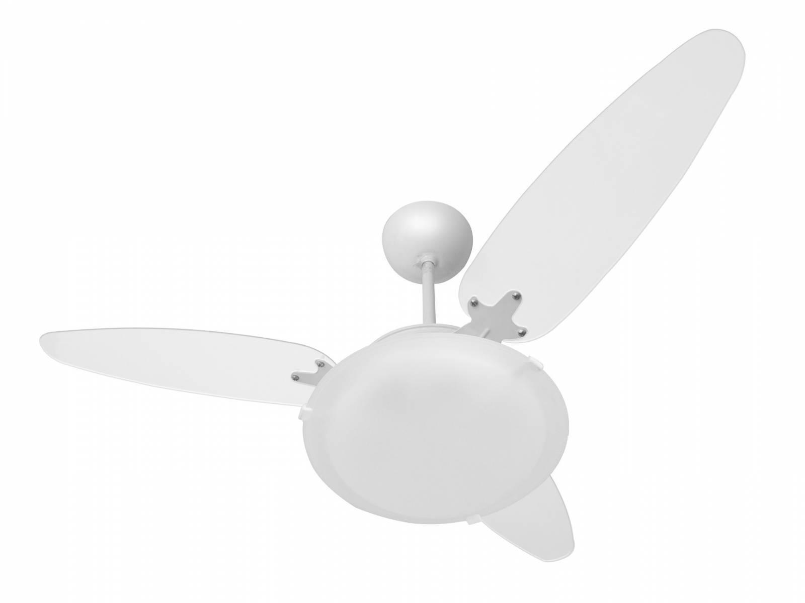 Ventilador De Teto 3 Pás Transparente Murano P/ 2 lâmpadas P - LCGELETRO