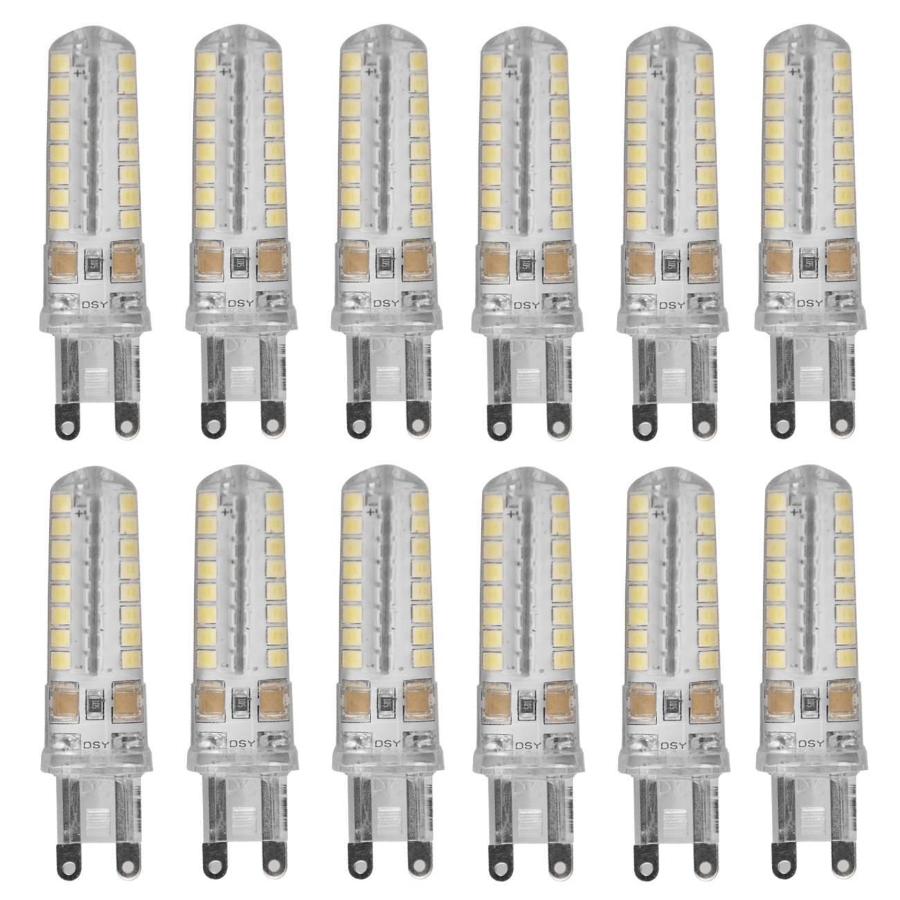 Kit 10 Lâmpadas Led Halopin G9 5w Branco Frio P/ Lustres e P - LCGELETRO