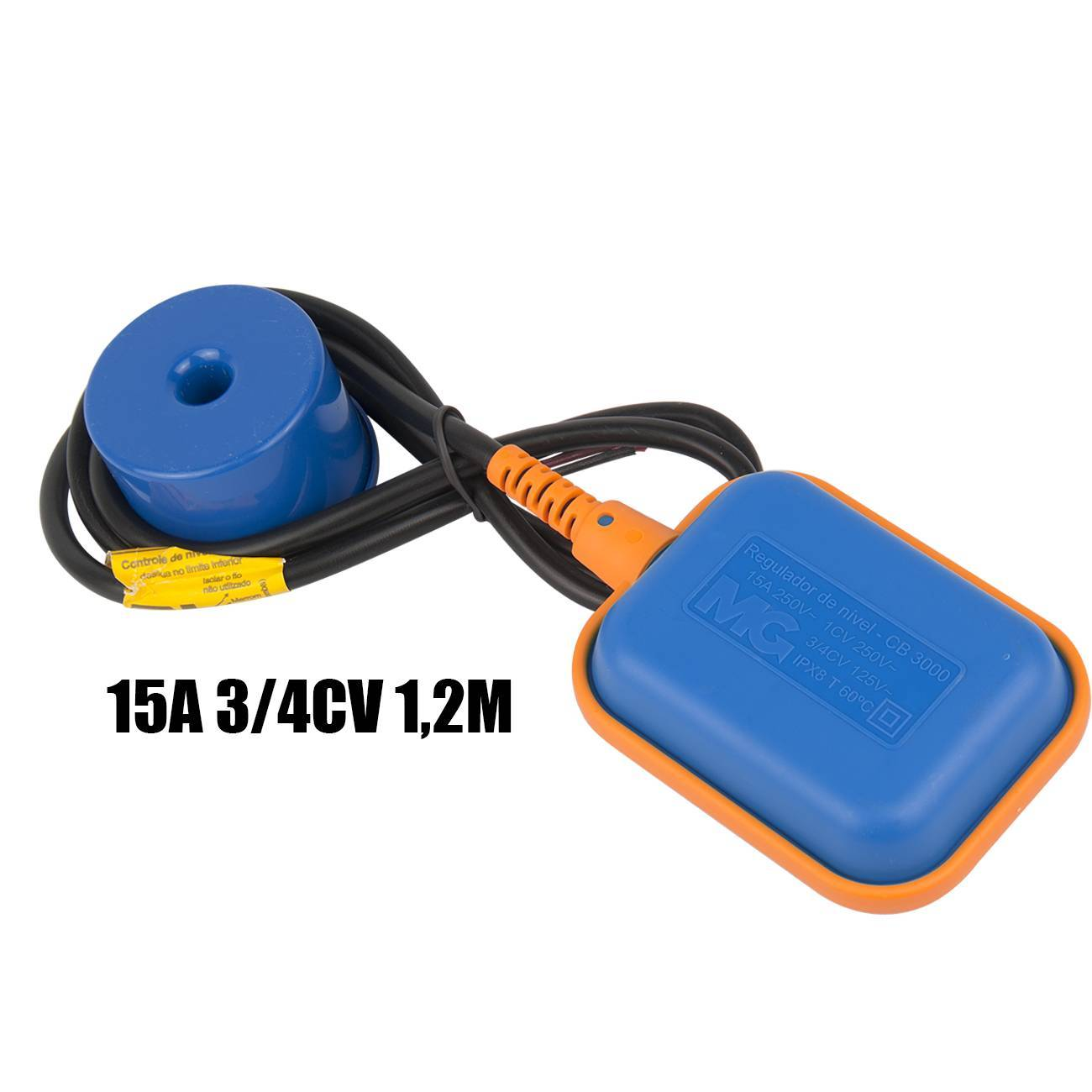 Chave Boia Elétrica Regulador De Nível 15a CB-2012 MarGirius - LCGELETRO