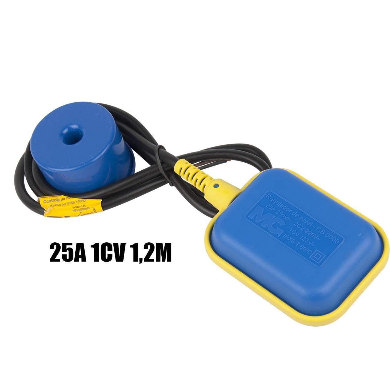 Chave Boia Elétrica Regulador De Nível 25a CB-3012 MarGirius - LCGELETRO