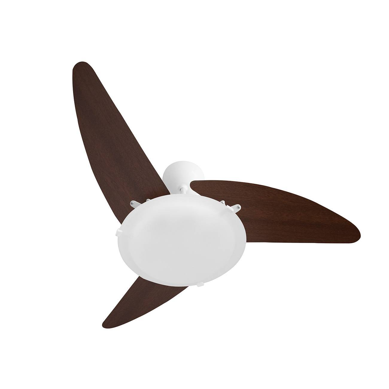 Ventilador De Teto Wind Light Branco/Tabaco Roma Ponente 3 P - LCGELETRO