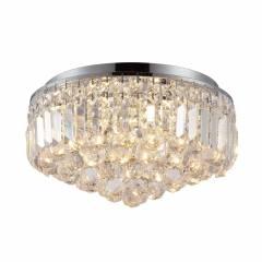 Plafon Kri Cristal Transparente HU1103 40x24cm Bella Iluminação