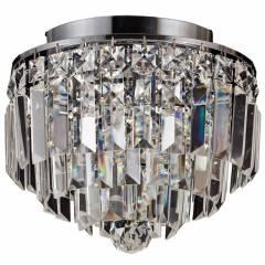 Plafon Kri Cristal Transparente HU1100 25x21,5cm Bella Iluminação