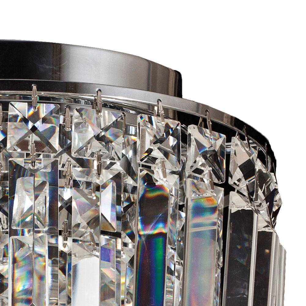 Plafon Kri Cristal Transparente HU1100 25x21,5cm Bella Ilumi - LCGELETRO