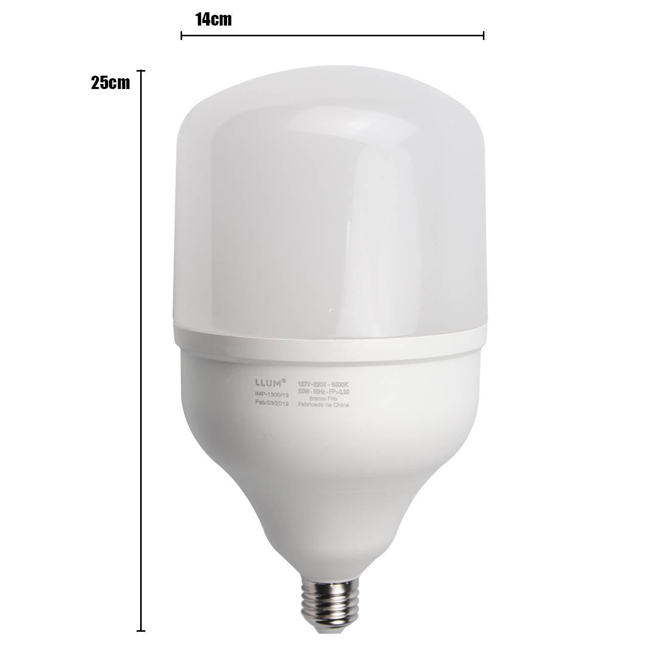 Lâmpada Led Bulbo High Llum 50w Luz Branca 6500k Bivolt - LCGELETRO
