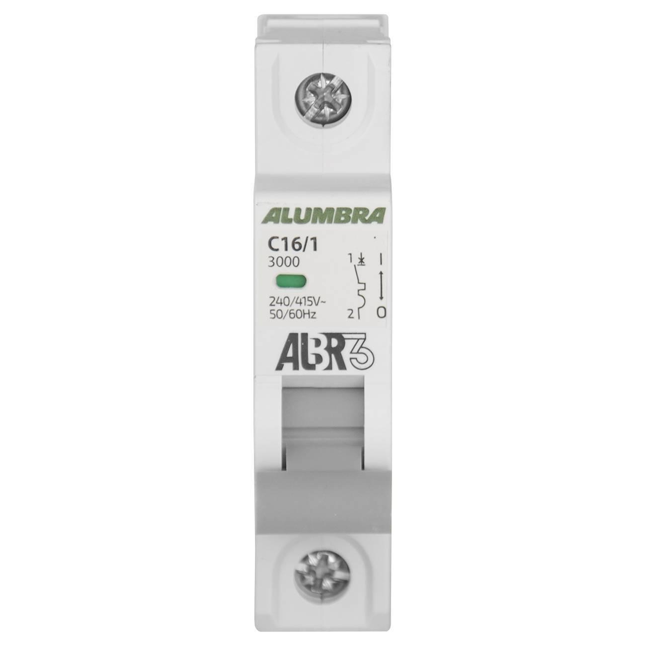 Disjuntor Unipolar 16A 3Ka Curva C Albr Alumbra - LCGELETRO