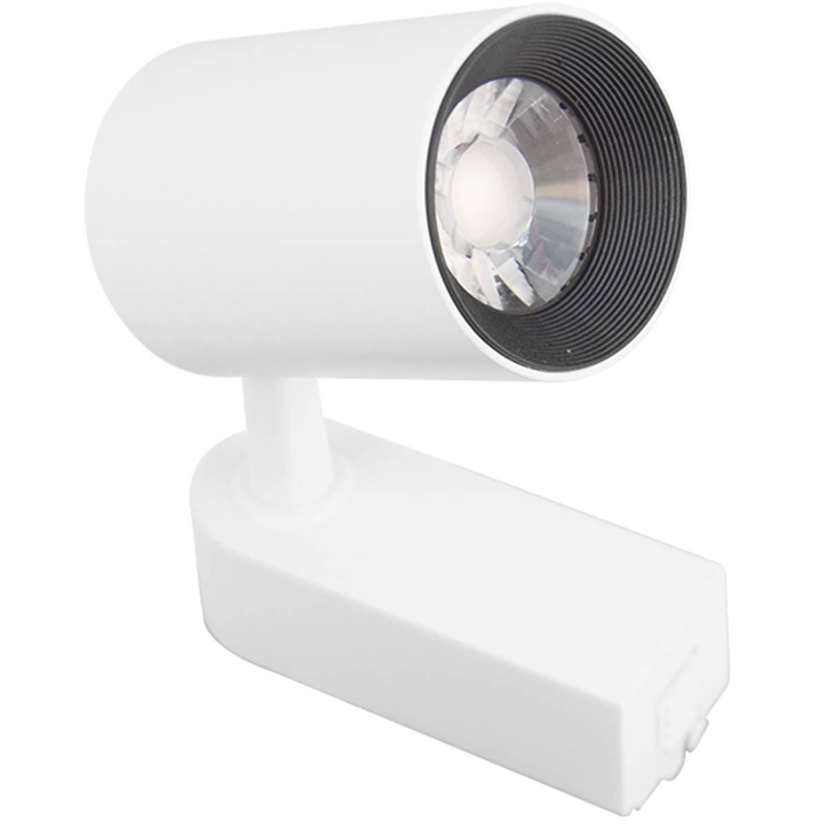 Kit Trilho Eletrificado 1 Metro Branco + 3 Spots Led 7w Bran - LCGELETRO