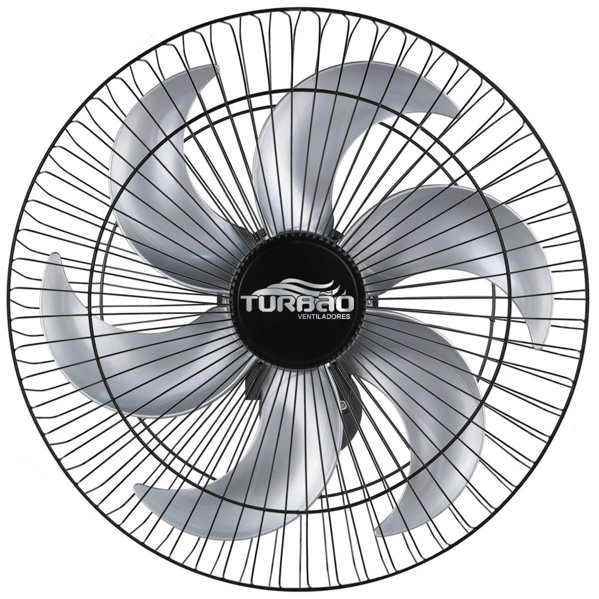 Ventilador de Parede Oscilante 50cm Preto/Prata Turbão 130W  - LCGELETRO