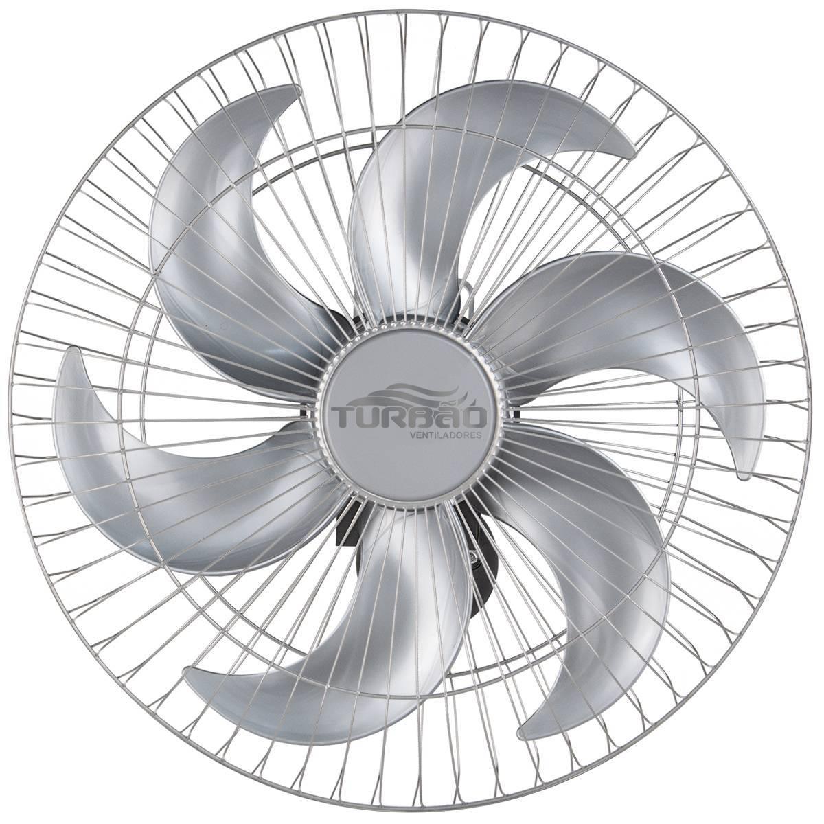 Ventilador de Parede Oscilante 50cm Prata Turbão 130W Bivolt - LCGELETRO