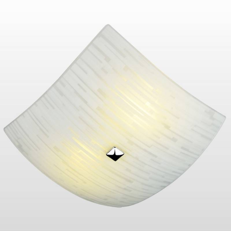 Luminária Quadrada Plafon Matrix 25cm Vidro Teto P/2 Lâmp - LCGELETRO