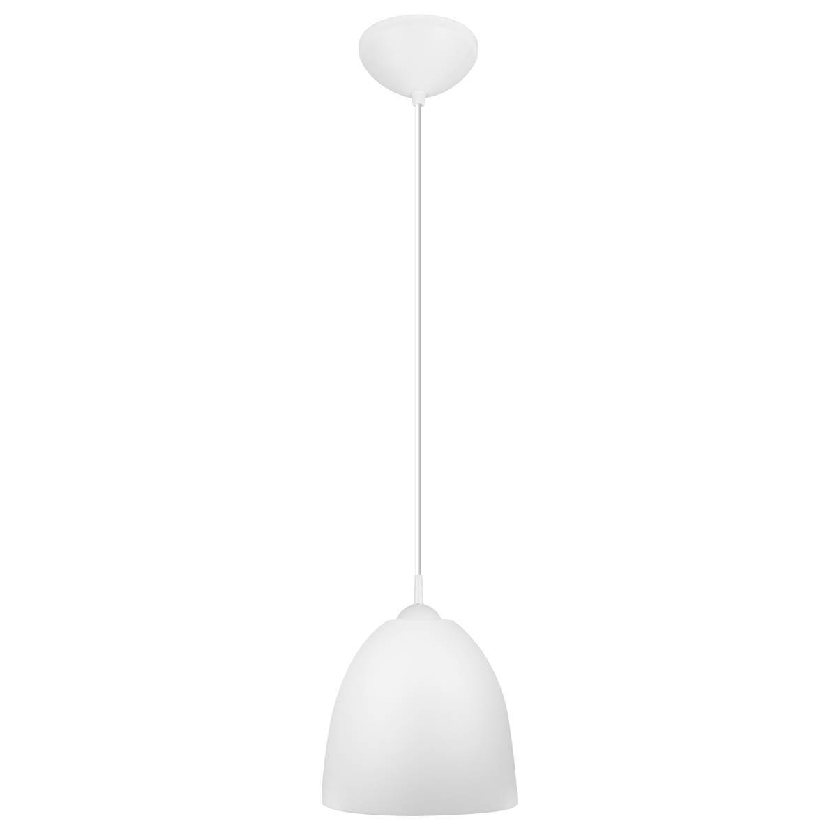 Luminária Pendente Easy 26x28,5cm Branco Bronzearte + Lâmpad - LCGELETRO