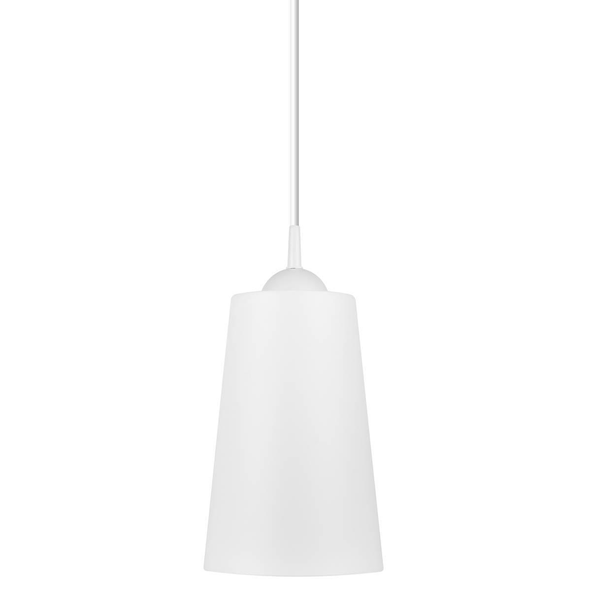 Luminária Pendente Easy 26x17cm Branco Bronzearte + Lâmpada  - LCGELETRO