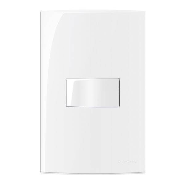 Conjunto Montado Sleek 4x2 1 Interruptor Simples Horizontal  - LCGELETRO