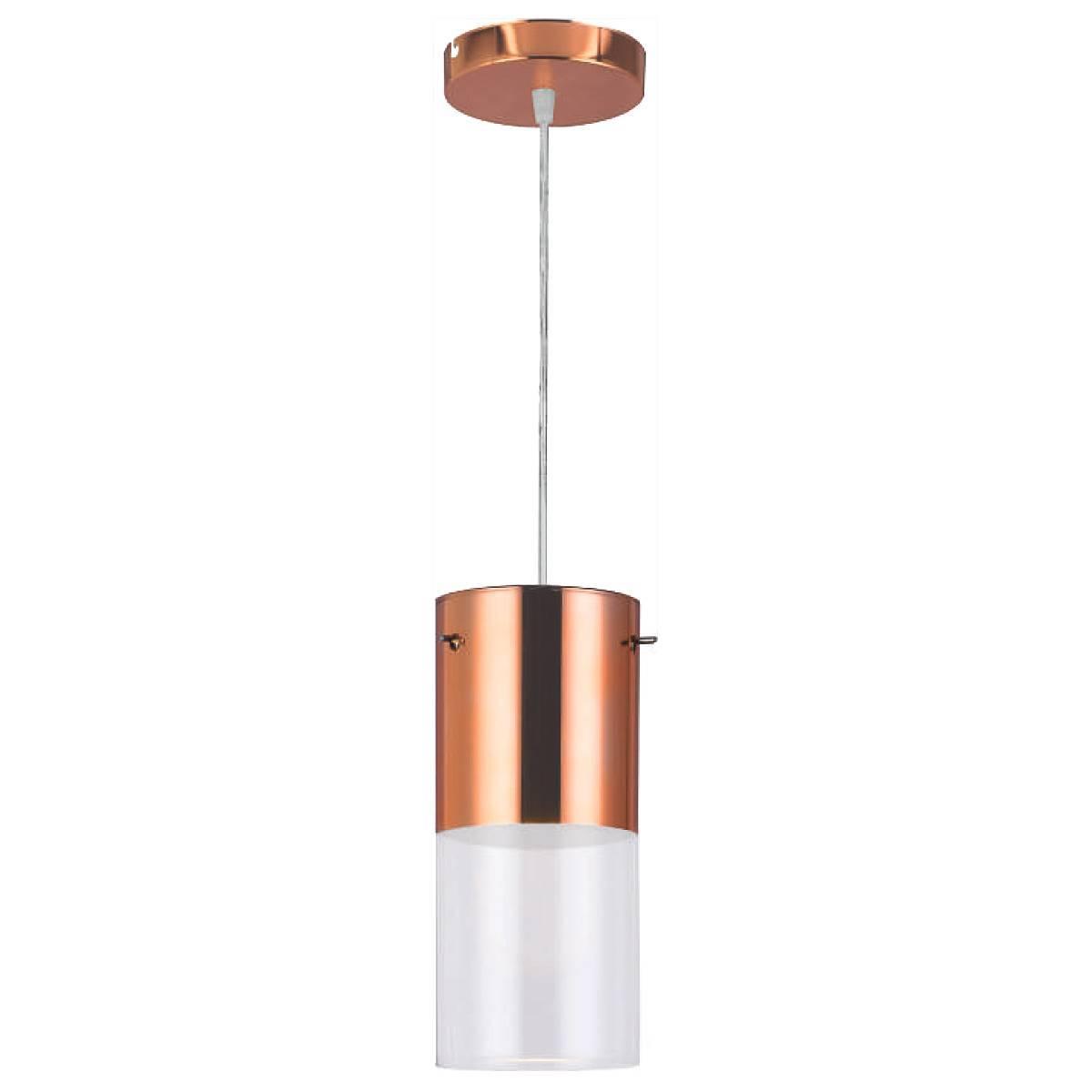 Luminária Pendente First Vidro Cobre/Transparente Bronzearte - LCGELETRO