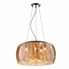 Pendente Plafon Soho G9 20cmx50cm Bella Iluminação Ambar/Transparente