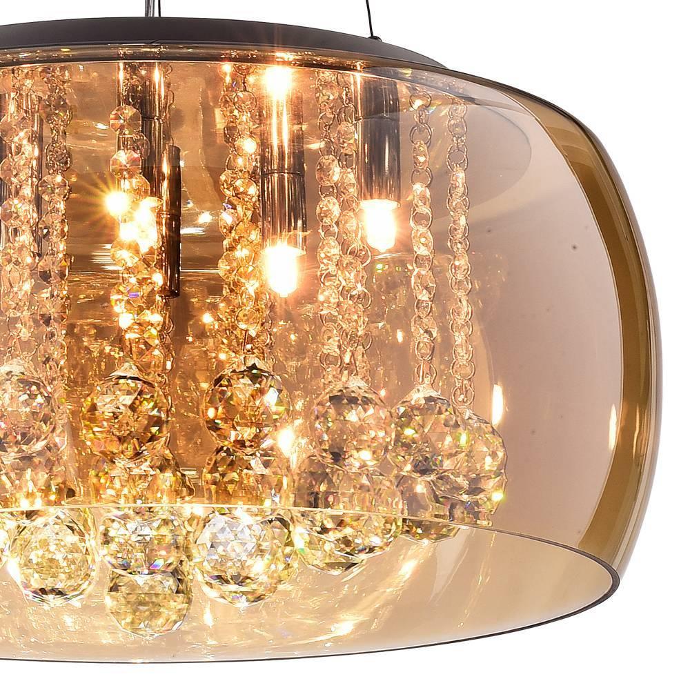 Pendente Plafon Soho G9 20cmx50cm Bella Iluminação Ambar/Tra - LCGELETRO