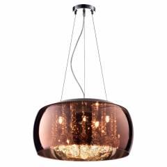 Pendente Plafon Soho G9 20cmx50cm Bella Iluminação Cobre/Transparente