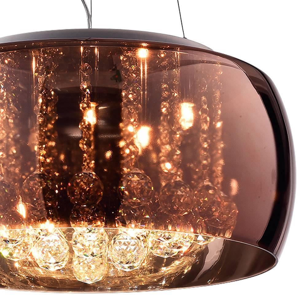 Pendente Plafon Soho G9 20cmx50cm Bella Iluminação Cobre/Tra - LCGELETRO
