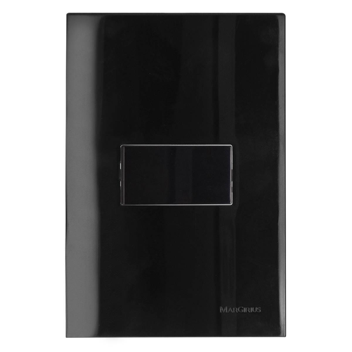 Conjunto Montado Sleek Ebony 4x2 1 Interruptor Paralelo Hori - LCGELETRO