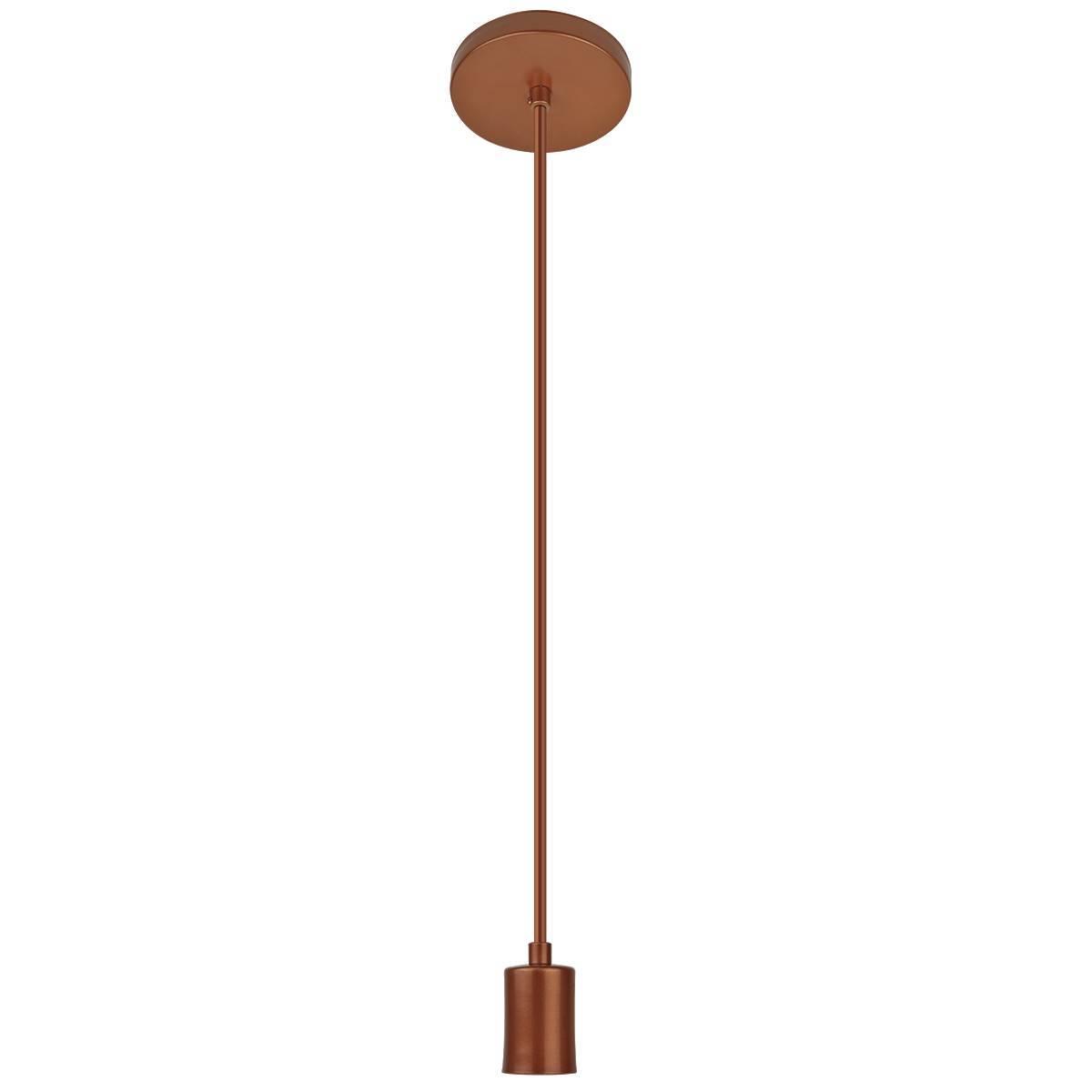 Pendente Cobre Luminária Solaris Cabo Slim Fio E27  - LCGELETRO
